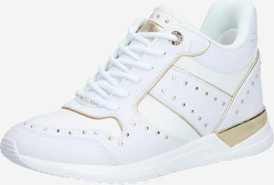 GUESS Sneaker 'REJJY/ACTIVE LADY/LEATHER LIKE' in weiß: Frontalansicht