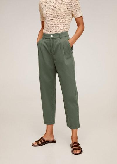 MANGO Hose in grün, Modelansicht