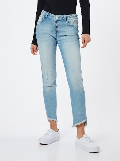 Goldgarn Jeans 'Rosengarten Cropped' in hellblau, Modelansicht