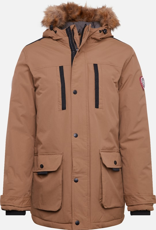 BURTON MENSWEAR LONDON Parka  'aw18 camel oak parka all' in camel, Produktansicht