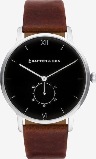 Kapten & Son Armbanduhr 'Heritage Silver' in braun / silber, Produktansicht
