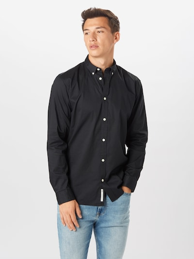 minimum Společenská košile 'Walther' - černá: Pohled zepředu