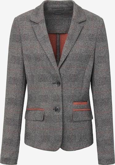 Basler Jersey-Blazer mit Reverskragen in grau / orange, Produktansicht