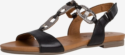 Sandale TAMARIS pe negru / argintiu, Vizualizare produs
