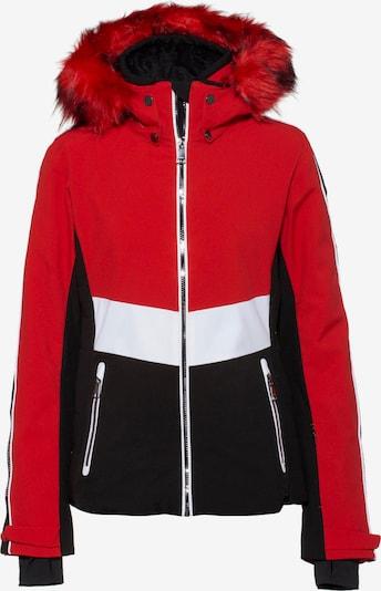 LUHTA Skijacke 'Jakka L7' in rot / schwarz / weiß, Produktansicht
