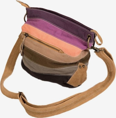Maze Umhängetasche 'Augusta' in hellbeige / braun / lila / orange, Produktansicht