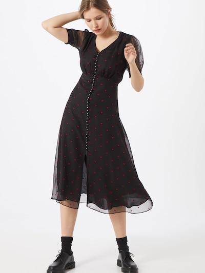 The Kooples Kleid 'ROBE' in rot / schwarz, Modelansicht