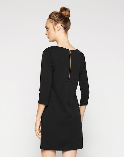 VILA Jerseykleid 'VITinny' in schwarz: Rückansicht