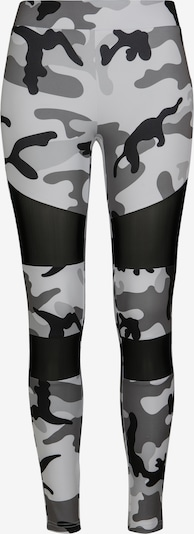 Urban Classics Leggings in grau / schwarz / weiß, Produktansicht