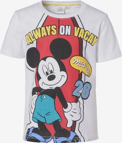 DISNEY T-Shirt 'Mickey Mouse' in türkis / senf / rot / schwarz / weiß, Produktansicht