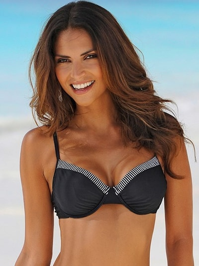 LASCANA Bügel-Bikini in schwarz / weiß, Modelansicht