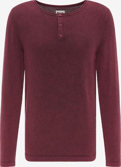 MUSTANG Sweater ' Emil H Henley ' in rot, Produktansicht