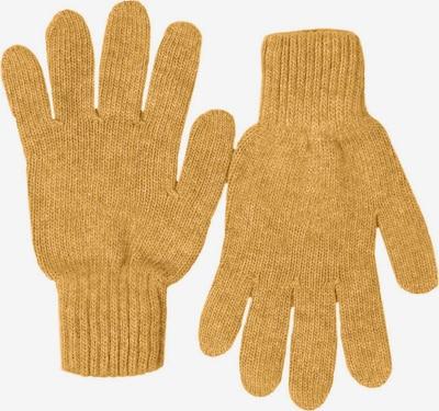Zwillingsherz Kurzfingerhandschuhe in ocker, Produktansicht