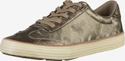 s.Oliver Sneaker in hellbeige / bronze: Frontalansicht