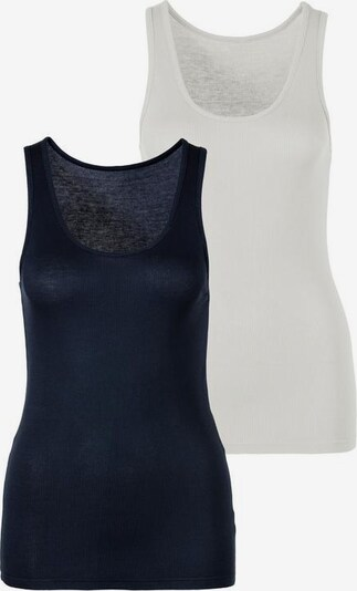 s.Oliver Tanktop in creme / dunkelblau, Produktansicht