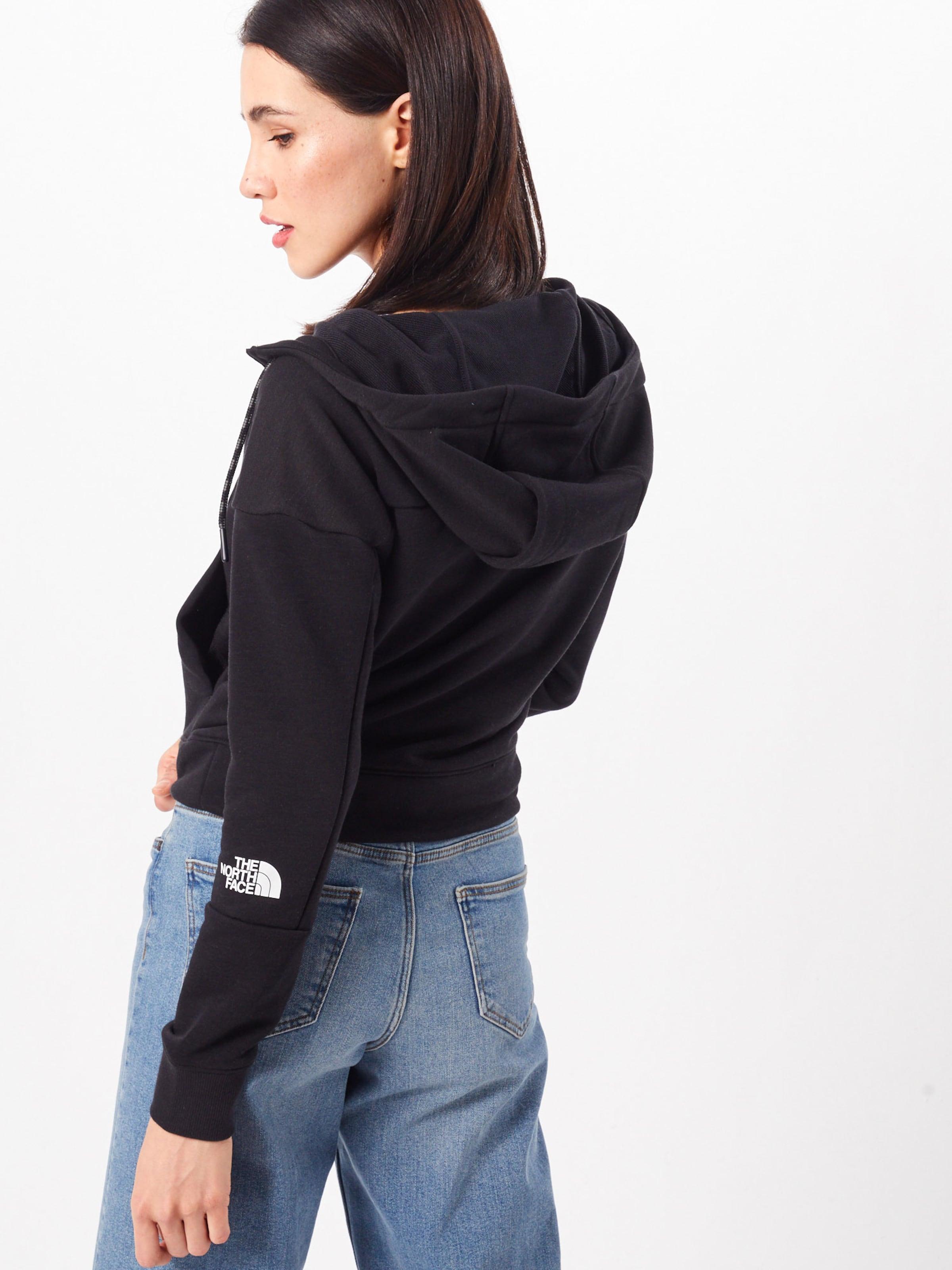 Hood' The Schwarz Fullzip Fleece North Light Face Sweatjacke 'women's In JFlK1c