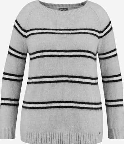 SAMOON Pullover in hellgrau / schwarz / weiß, Produktansicht