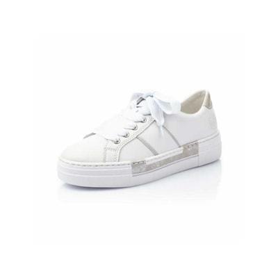 RIEKER Låg sneaker i silver / vit, Produktvy