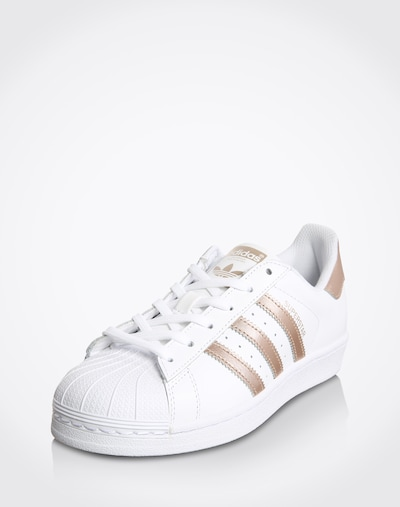 ADIDAS ORIGINALS Sneaker 'Superstar' in gold / weiß: Frontalansicht