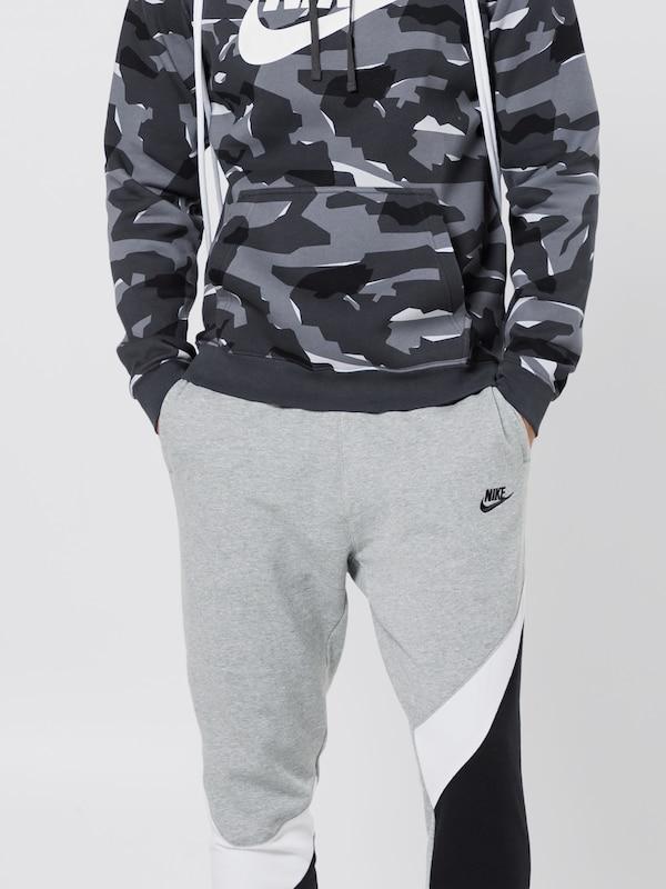 Nike Sportswear Jogginghose in graumeliert schwarz weiß