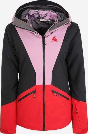 Maloja Outdoorjas 'LoleM.' in de kleur Lila / Rood / Zwart, Productweergave
