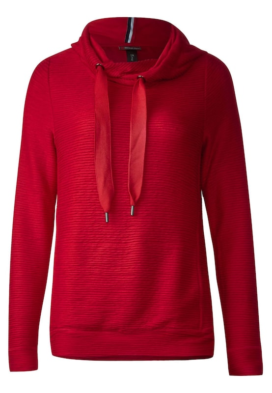 street one weicher struktur hoodie in rot about you. Black Bedroom Furniture Sets. Home Design Ideas