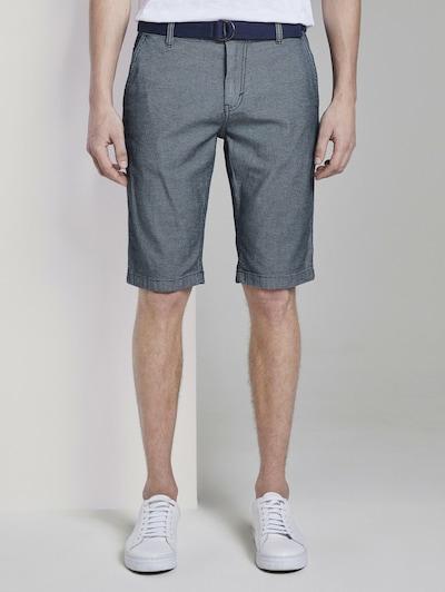 TOM TAILOR Chino kalhoty - tmavě šedá: Pohled zepředu