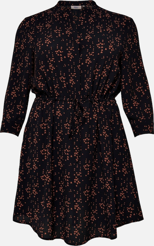 ONLY Carmakoma Kleid in Orangerot     schwarz  Neue Kleidung in dieser Saison 82e5c5
