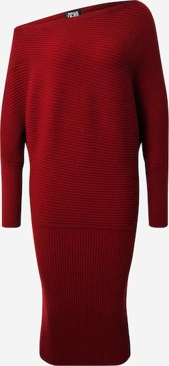 Parallel Lines Gebreide jurk in de kleur Wijnrood, Productweergave