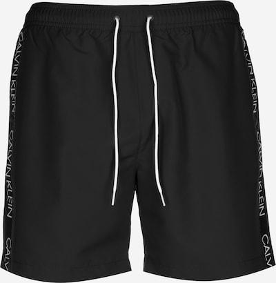 Calvin Klein Swimwear Badeshorts in schwarzmeliert / weiß, Produktansicht