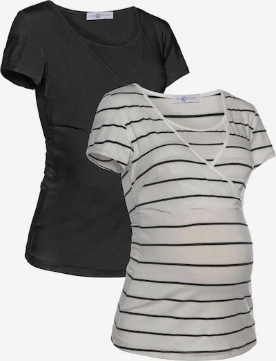 Neun Monate Shirt in schwarz / weiß, Produktansicht