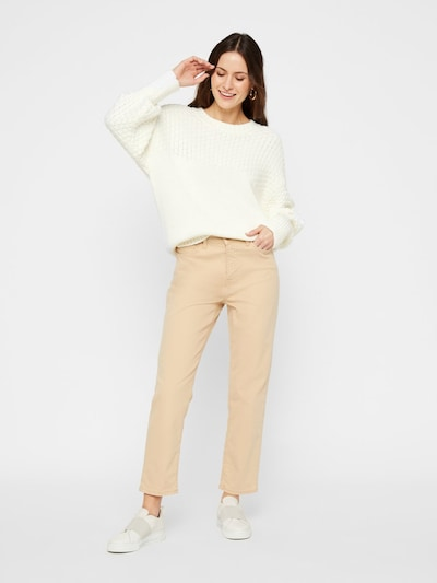 PIECES Pullover in creme: Frontalansicht
