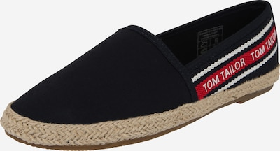 TOM TAILOR Slipper in navy / rot, Produktansicht