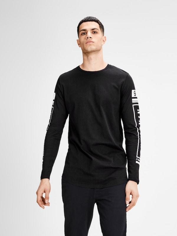 JACK & JONES Länger geschnittenes T-Shirt mit langen Ärmeln
