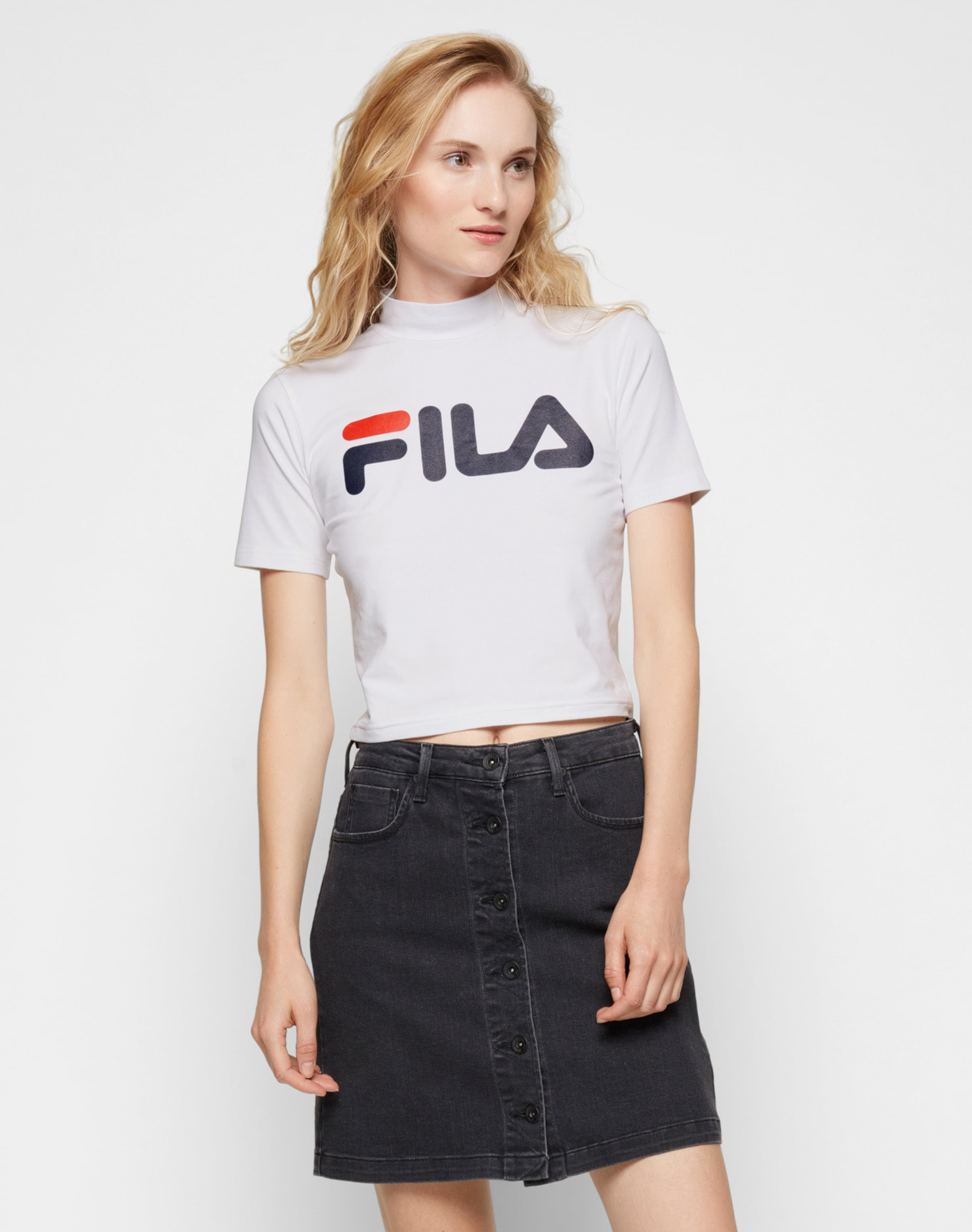 Blanc Fila En shirt RougeNoir T k0OP8wn