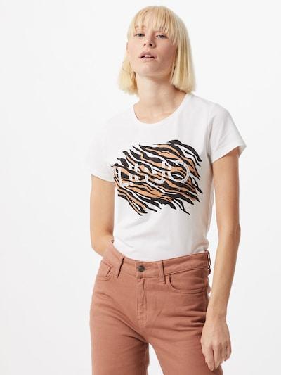 LIU JO JEANS T-Shirt 'MODA' in braun / schwarz / weiß: Frontalansicht