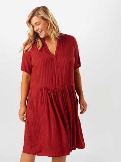 ONLY Carmakoma Sukienka koszulowa 'Carmalani' w kolorze rdzawoczerwonym: Widok z przodu