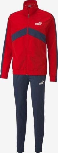 PUMA Trainingsanzug in dunkelblau / rot / weiß, Produktansicht