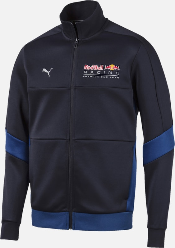 PUMA Trainingsjacke 'Red Bull Racing T7' in blau / schwarz, Produktansicht