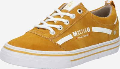 MUSTANG Sneaker in senf / weiß, Produktansicht