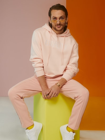 ABOUT YOU x Riccardo Simonetti Sweatshirt in rosa: Frontalansicht