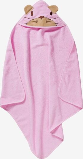 Pippi Kapuzenhandtuch in braun / rosa, Produktansicht