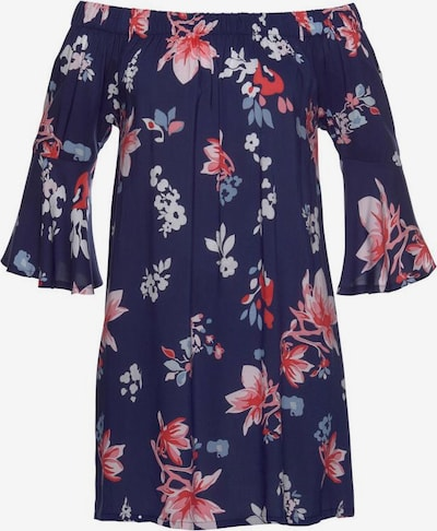 BEACH TIME Pludmales kleita debeszils / tumši lillā / laša / balts, Preces skats