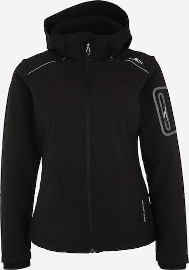 CMP Softshell-Regenjacke in schwarz, Produktansicht