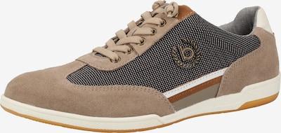 Sneaker low bugatti pe maro cămilă / maro / negru / alb, Vizualizare produs