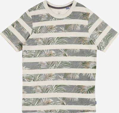 Jack & Jones Junior T-Shirt 'DUSTIN' in creme / karamell / graumeliert / grasgrün, Produktansicht