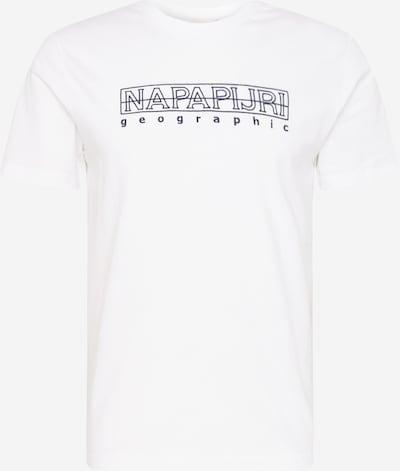 Tricou 'SEBEL' NAPAPIJRI pe negru / alb, Vizualizare produs