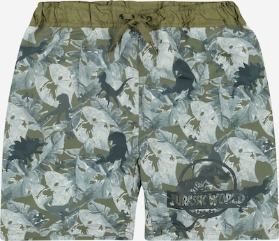 NAME IT Badeshorts 'Jurassic World' in khaki / mischfarben, Produktansicht