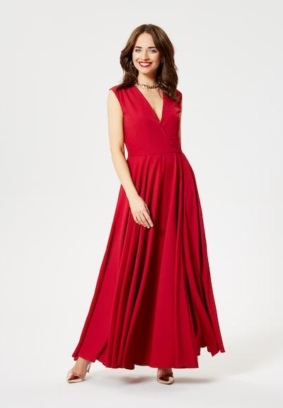 faina Avondjurk in de kleur Rood: Vooraanzicht