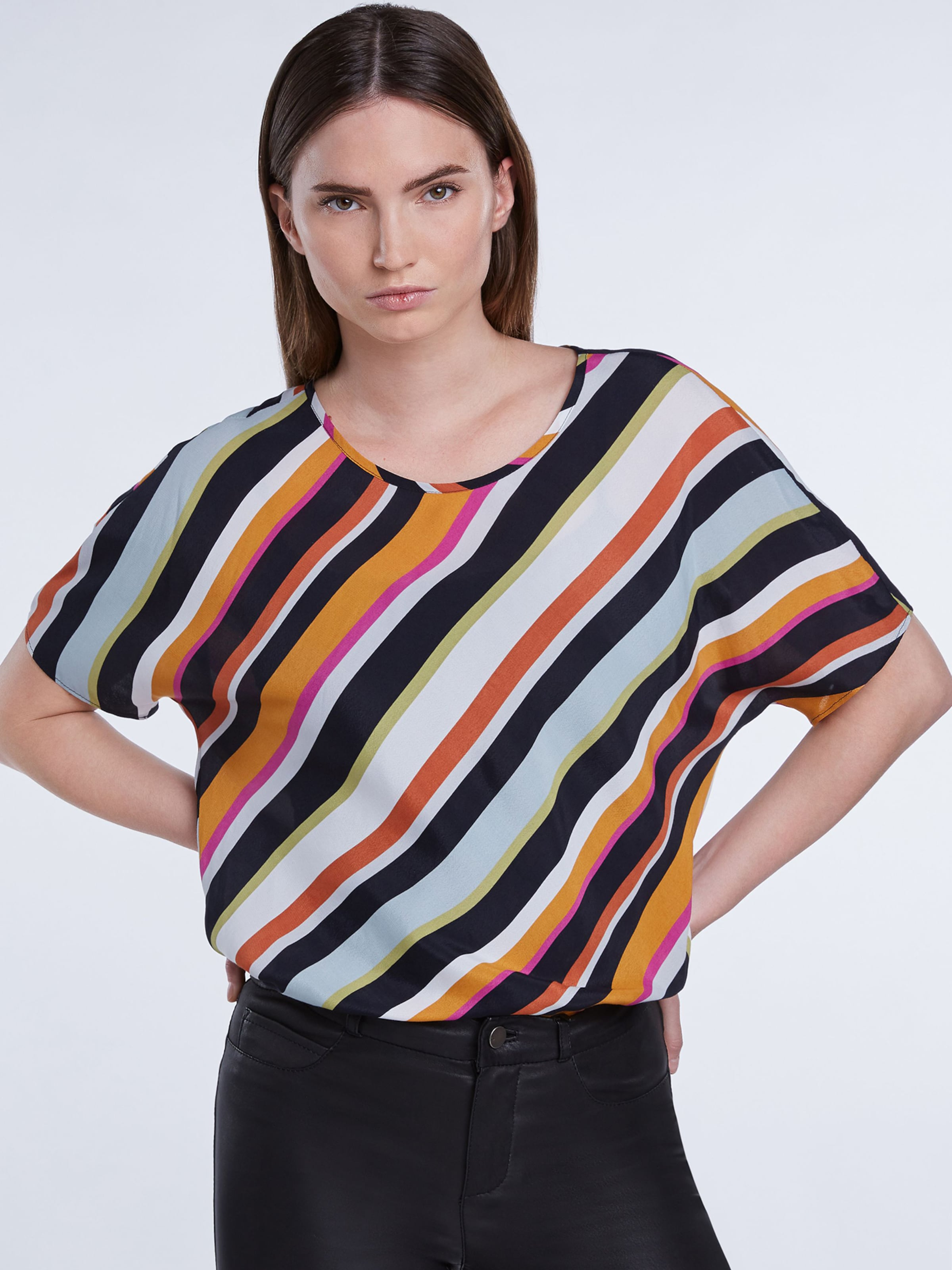 SET Blus i orange / rosa / svart